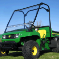 John Deere TS, TX and Turf Gator Folding Polycarbonate Hard Windshield