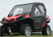 CAN-AM Commander Full Cab Enclosures - Lexan Hard Windshield