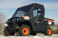 BobCat 3400 Full Cab Enclosure | FOLDING Hard Windshield