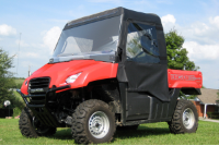 Honda Big Red MUV 700 Full Cab Enclosure to fit Hard Polycarbonate Windshield