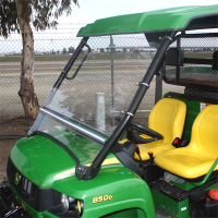 John Deere Gator FOLDING Hard Polycarbonate Windshield