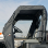 BobCat 3400 Full Cab Enclosure | Vinyl Windshield with doors rolled back