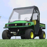 John Deere Gator 625i 825i 855d Full Cab Enclosure with Folding Hard Windshield