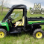 John Deere Gator Full Cab Enclosure with Arep-Vent Windshield w/ side doors open