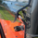 Kubota RTV900 AreoVent Hard Polycarbonate Windshield - close up of connecting channel to allow for rain to run down