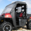 Polaris Ranger 400 Full Cab Enclosure for existing Hard Windshield-door open and rolled back