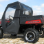 Polaris Ranger 400 Full Cab Enclosure | Areo-Vent Hard Windshield-rear view