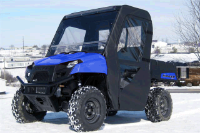 Polaris Ranger EV400 Full Cab Enclosure | FOLDING Lexan Hard Windshield
