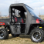 2010+ Polaris Ranger Full Cab Enclosure with Vinyl Windshield -with Side Door Rolled Open