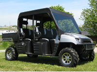 Polaris Crew Mini Cab Enclosure with FOLDING Hard Windshield