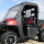 2010+ Polaris Ranger Full Cab Enclosure with FOLDING Hard Windshield w/ side door open