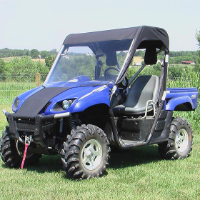 Yamaha Rhino Vinyl Windshield Top Combo