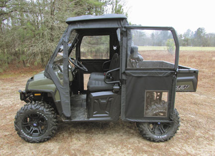 Mid-Size Polaris Ranger STEEL FRAME Doors Kit with door open ... & Mid-Size Polaris Ranger STEEL FRAMED Doors Kit | UTV Cab Enclosure