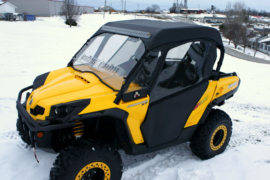 ... CAN-AM Commander Soft Doors front view ... & Buy CAN-AM Commander Soft Doors - UTV Cab Enclosures Pezcame.Com
