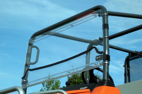 Kubota TRV1140 FOLDING Hard Polycarbonate LexanR Windshield HINGED UP