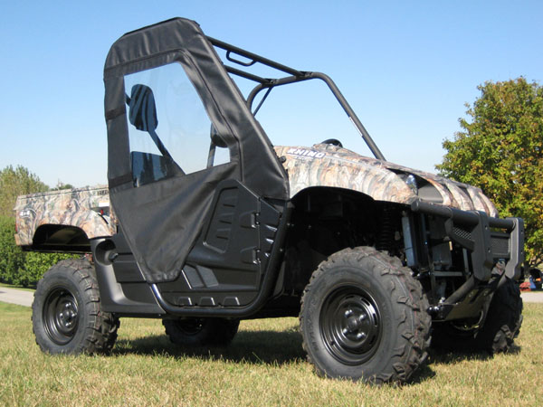 BLACK CAB ENCLOSURE for 2012-2013 YAMAHA RHINO 450 660 700 w// Half Doors 1//2