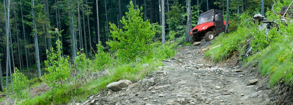 The Honda BIG RED takes to the woods